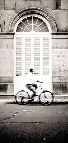 Biker on Chartres
