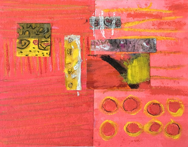 mixed media, collage, contemporary art,