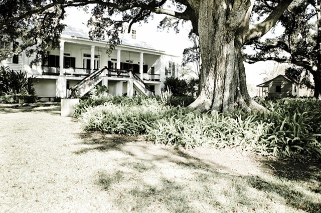 Back View of St Joseph Plantation House
