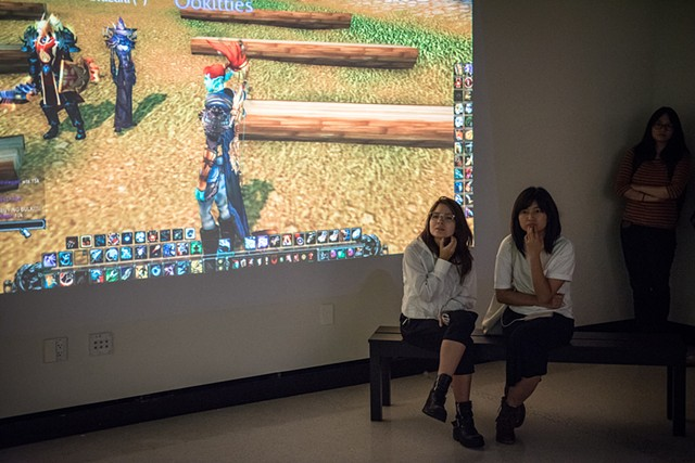 Performing in Public (Four Years of Ephemeral Actions in World of Warcraft) at gallery@calit2, UCSD