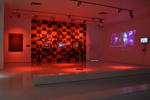 The Game: The Game installed at the Museum of Moving Image (NYC)