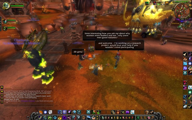 Safety (Sea Change): An Interview in World of Warcraft