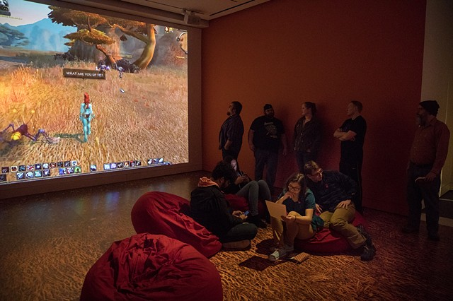 Installation View: Playtime at the Peabody Essex Museum (Angela Washko Exhibition)