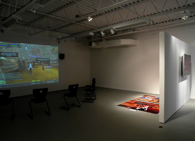 Playing A Girl, installation view