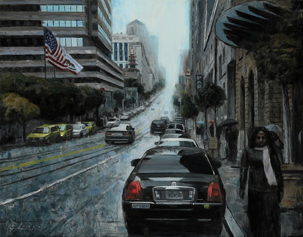 urban landscape, cityscape, city, painting, art, fine art, oil painting, representational, realism, abstraction, contemporary