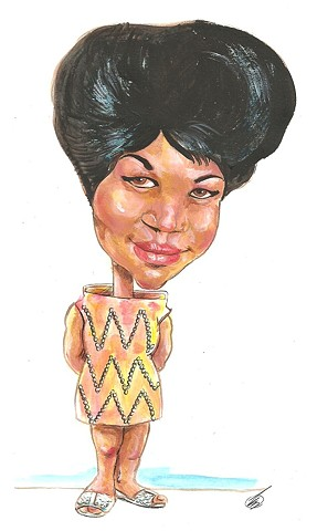 Aretha Franklin caricature