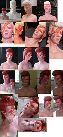 Large Bowie bust