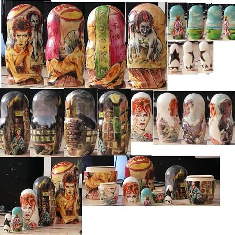Bowie nesting dolls
