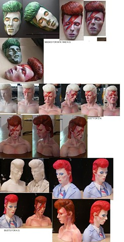 Commissioned Bowie busts