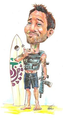Hawaii 5-0 Steve McGarrett caricature