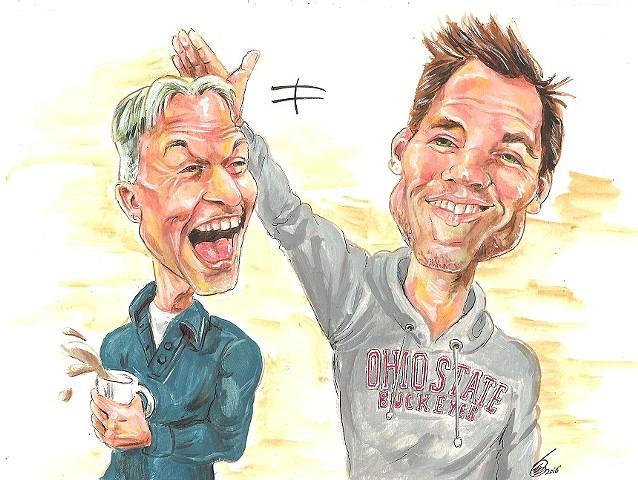 NCIS DiNozzo/Gibbs caricature