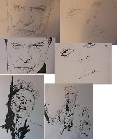 Bowie pen series - preliminarys