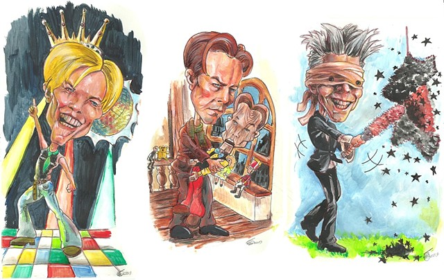 Bowie career caricatures 8