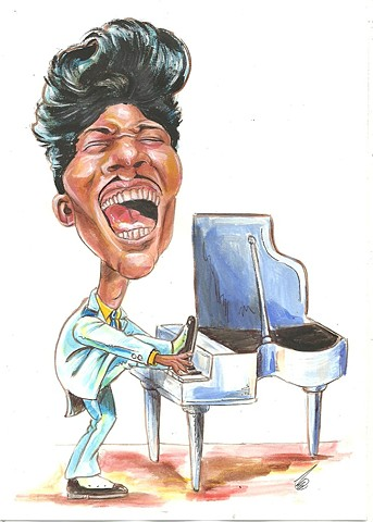 Little Richard caricature
