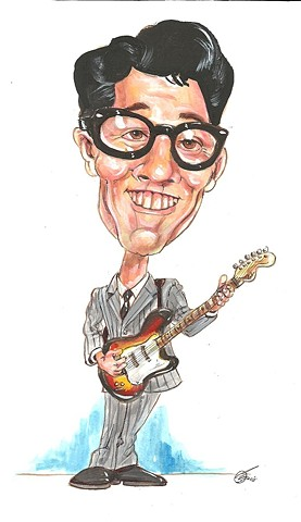 Buddy Holly caricature