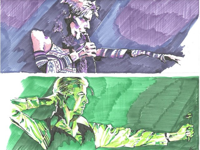 Bowie pen series - Ziggy and the Duke