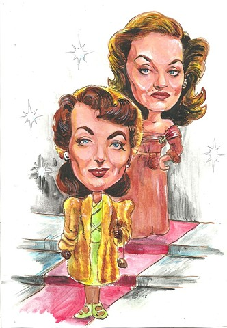 Joan Crawford + Bette Davis