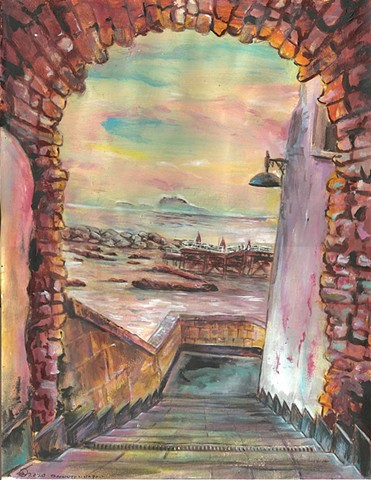 Tramonto di Napoli