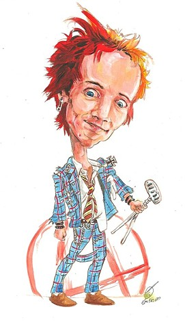 Johnny Rotten caricature