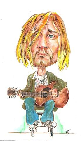 Kurt Cobain caricature