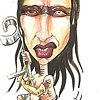Marilyn Manson caricature