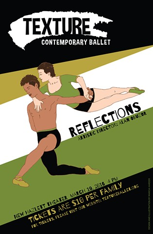 Illustration for Texture Contemporary Ballet's March 2016 children's show