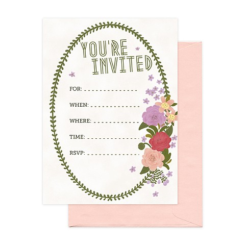 Floral Oval Invitation