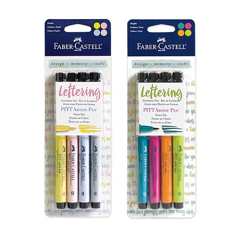 PITT artist pens Lettering Sets, Pastels and Brights
