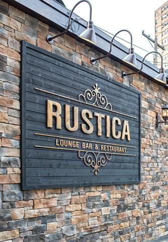 Rustica Bar Lounge Sign