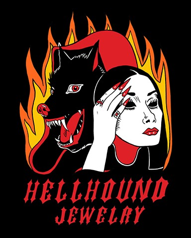 Hellhound Jewelry Tote Bag Design