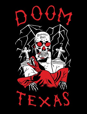 Doom Texas Motorcycle Club Patch Illustration