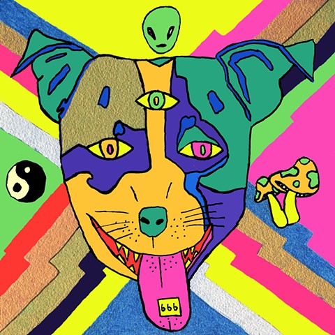 Psychedlic Dog