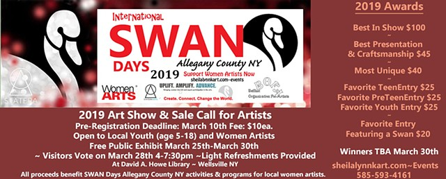 SWAN Day Art Show, Statera Arts, Women Arts, Allegany County NY