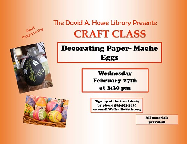 Library Crafts, Allegany County NY, Wellsville NY, Women Arts