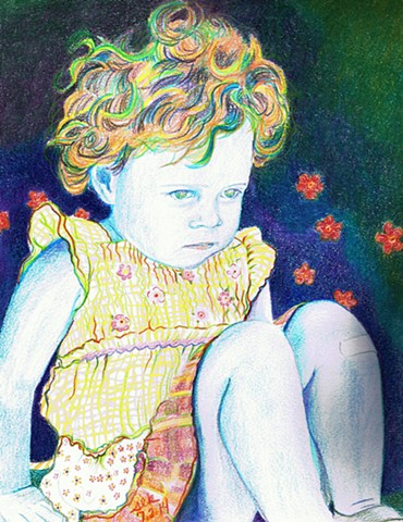 child portrait, synthetism,