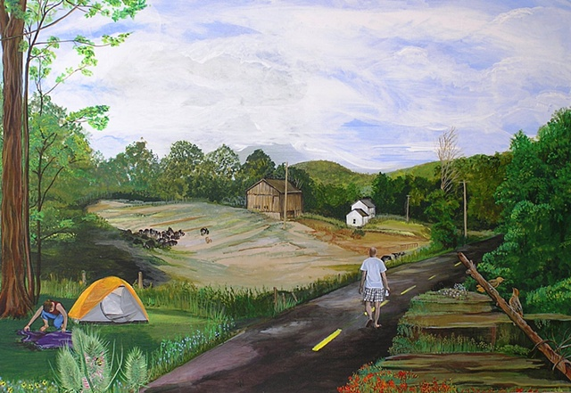 old farm, landscape, sheila kalkbrenner, upstate new york