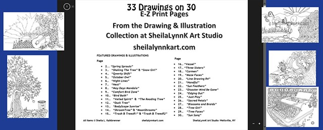 Art, Illustration, Line Drawings, Nature Drawings, Print on Demand, Print Your Own