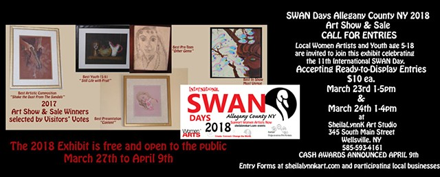 Women Artists, SWAN Days, Allegany County NY Art, Art show, Art Sale Wellsville NY,