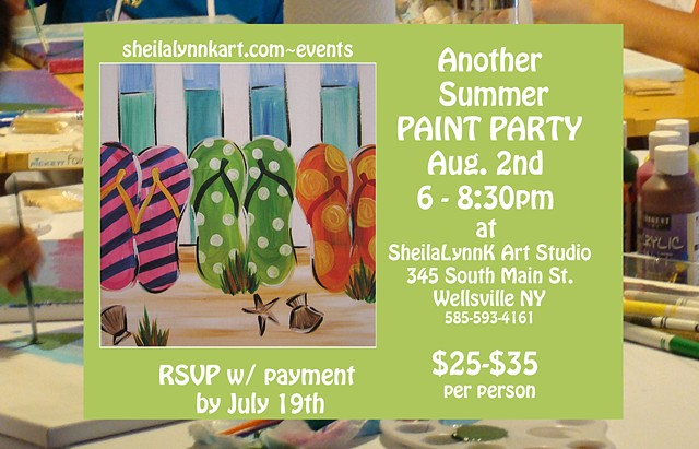 Paint Party, Paint and Sip, Summer Painting, Adult Paint Party