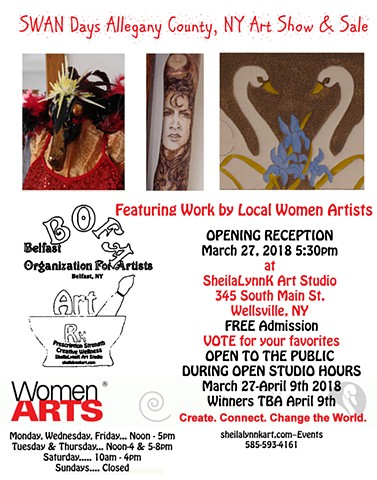Art Show, Wellsville NY, Art Sale, SWAN Day, Women Arts