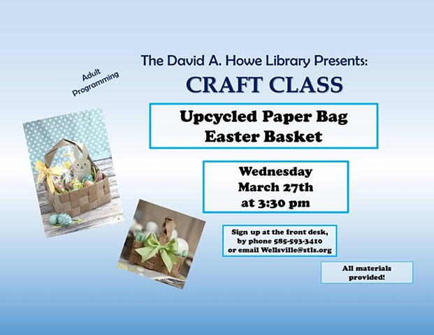 Adult Craft Classes Wellsville NY , David A.Howe Library