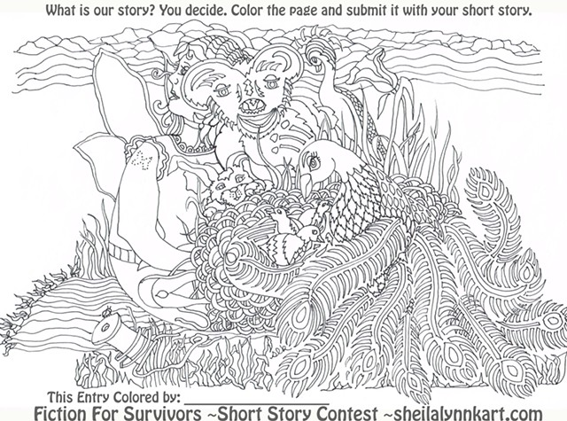 Fiction For Survivors~FREE Coloring Page & Writing Contest Fundraiser