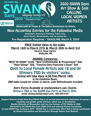 SWAN Days Call for Entries, Women Arts, Statera Arts
