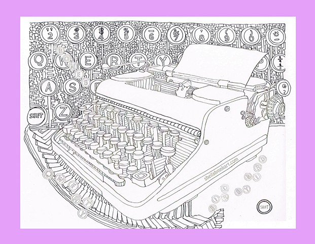 Qwerty Keyboard, Note cards for writers, Fine Art cards