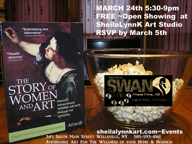 SWAN Day Allegany County NY, Wellsville NY, SheilaLynnK Art Studio Events, Women In the Arts, SWAN Local, Affordable Art