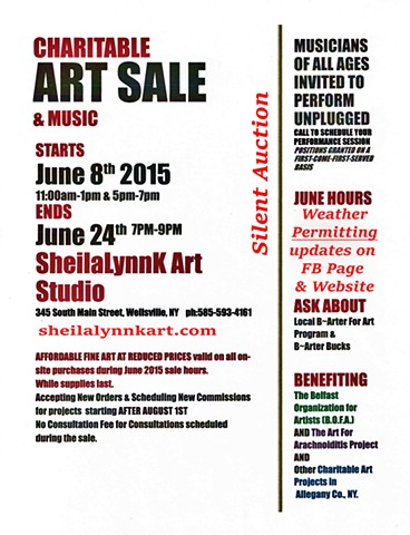 JUNE ART SALE POSTER
