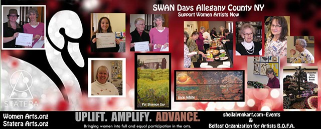 SWAN Days, Women Arts, StateraArts, AlleganyCountyNY