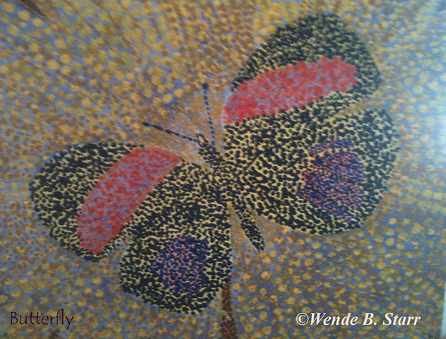 butterfly art, arachnoiditis, spinal cord injury, art for arachnoiditis, pain management, art therapy