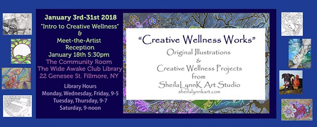 Creative Wellness, FREE Art, Affordable Art, Wellsville NY, Allegany County NY, Fillmore NY