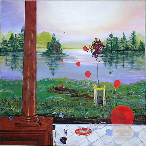 Amanda Nicole Curcio, Belfast Organization For Artists, Landscape Painting, Belfast NY